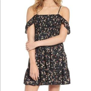 Mimi Chica Dresses - Mimi Chica Smocked Off The Shoulder Mini Dress